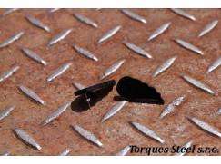 Naušnice křídla černá